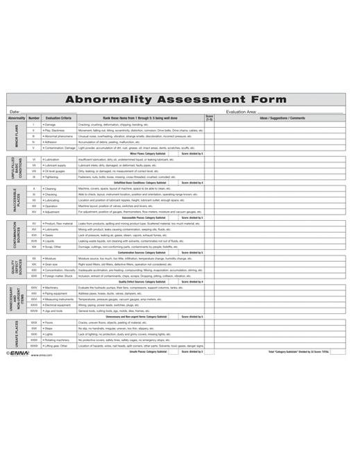 Abnormality Assessment Form book cover