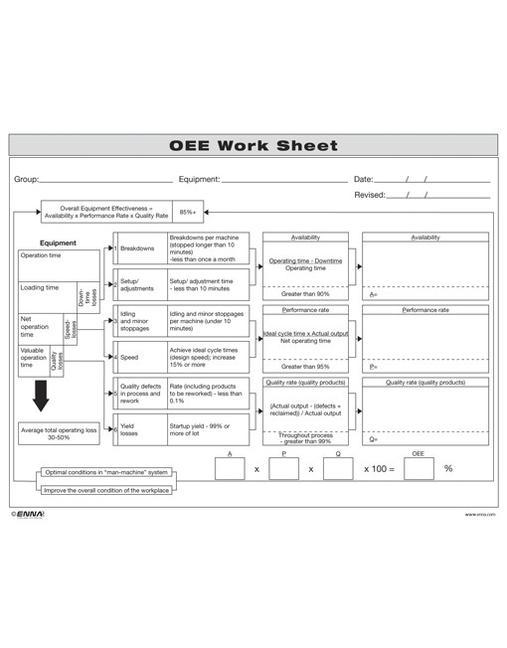 OEE Worksheet book cover