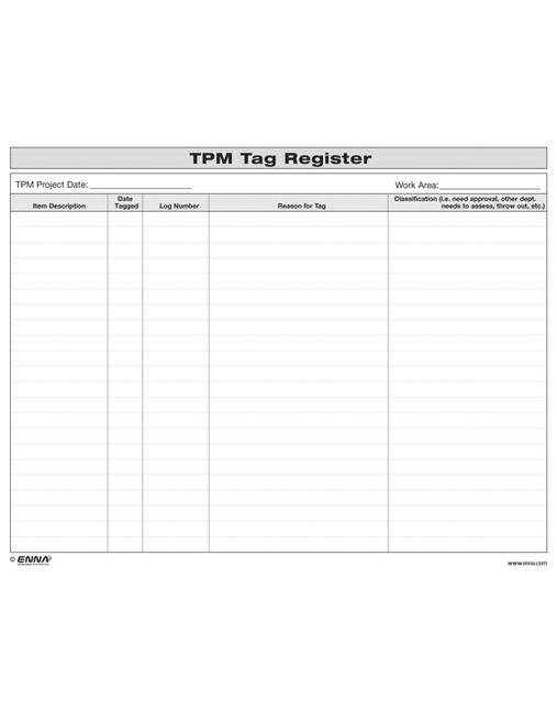 TPM Tag Register TPM Tag Register book cover