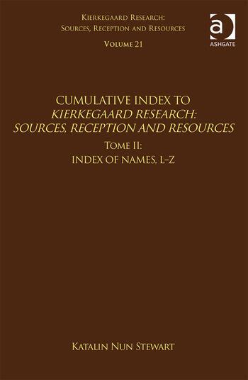 Volume 21, Tome II: Cumulative Index Index of Names, L-Z book cover