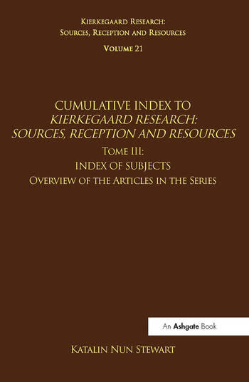Volume 21, Tome III: Cumulative Index Index of Subjects, Overview of the Articles in the Series book cover