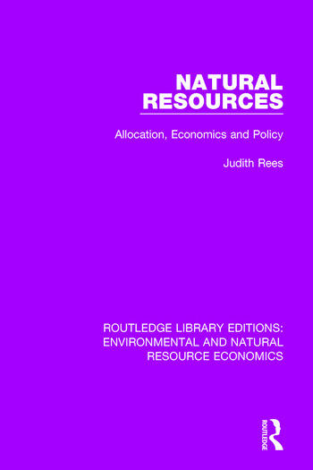 Natural Resources Allocation, Economics and Policy book cover
