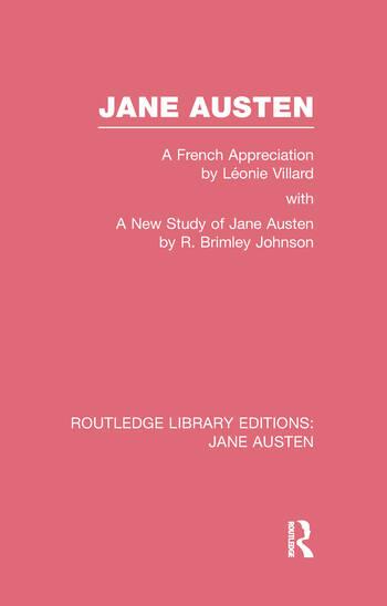 Jane Austen (RLE Jane Austen) A French Appreciation book cover