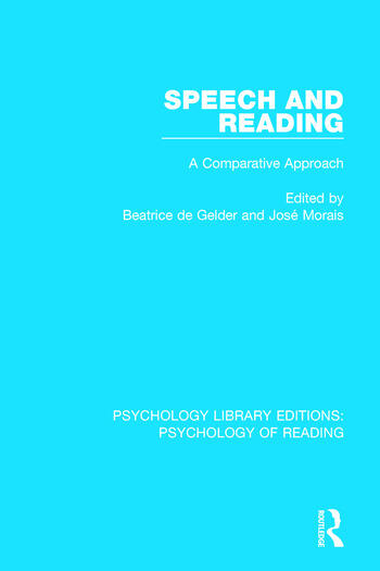 Speech and Reading A Comparative Approach book cover
