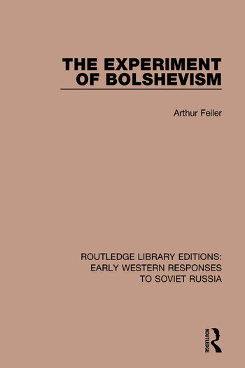 The Experiment of Bolshevism book cover