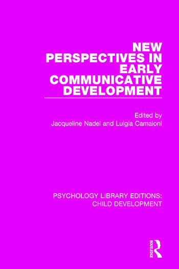 New Perspectives in Early Communicative Development book cover