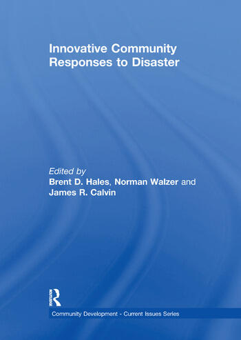 Innovative Community Responses to Disaster book cover