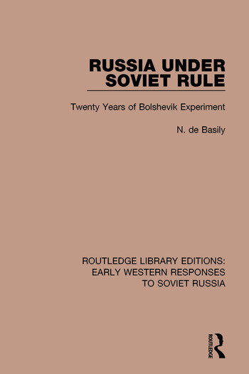 Russia Under Soviet Role Twenty Years of Bolshevik Experiment book cover