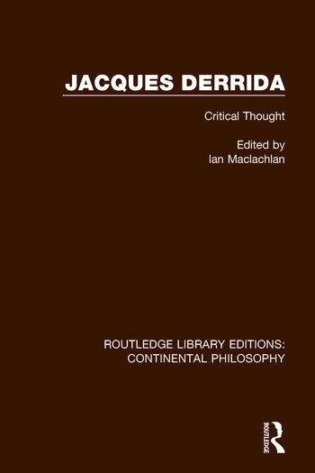 Jacques Derrida book cover