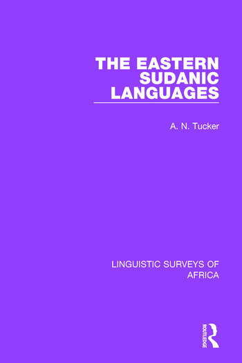 The Eastern Sudanic Languages book cover