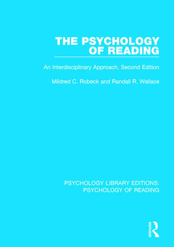 The Psychology of Reading An Interdisciplinary Approach (2nd Edn) book cover
