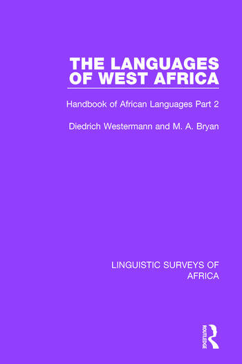 The Languages of West Africa Handbook of African Languages Part 2 book cover