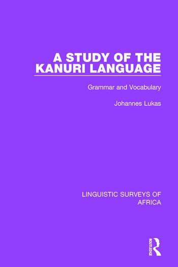 A Study of the Kanuri Language Grammar and Vocabulary book cover