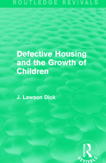 Defective Housing and the Growth of Children book cover