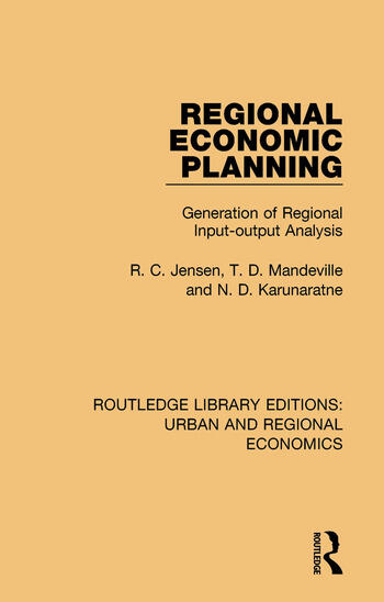 Regional Economic Planning Generation of Regional Input-output Analysis book cover