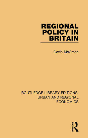 Regional Policy in Britain book cover