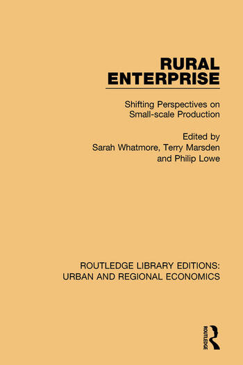 Rural Enterprise Shifting Perspectives on Small-scale Production book cover