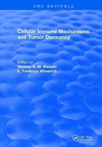 Cellular Immune Mechanisms and Tumor Dormancy book cover