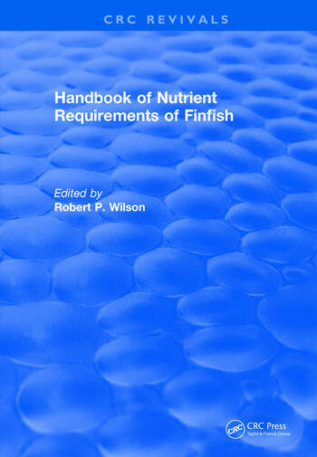 Handbook of Nutrient Requirements of Finfish (1991) book cover