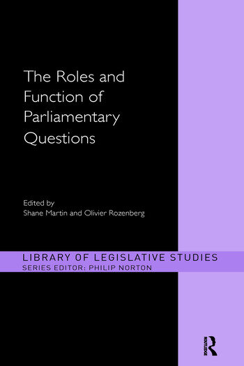 The Roles and Function of Parliamentary Questions book cover
