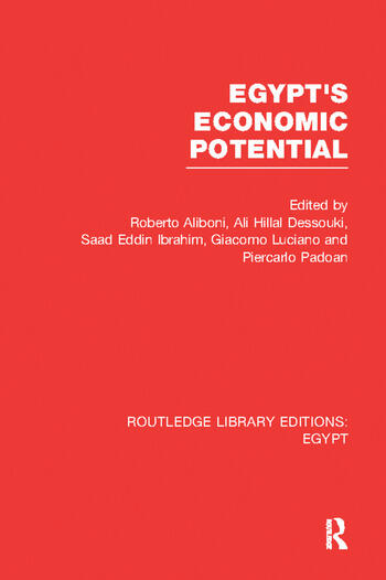 Egypt's Economic Potential (RLE Egypt) book cover