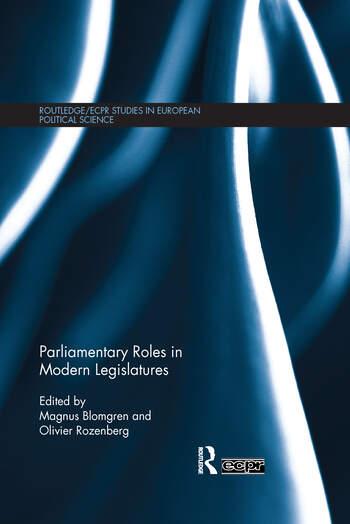 Parliamentary Roles in Modern Legislatures book cover