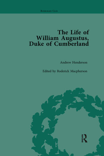 The Life of William Augustus, Duke of Cumberland by Andrew Henderson book cover