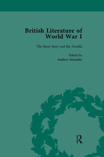 British Literature of World War I, Volume 1 book cover