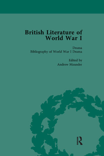 British Literature of World War I, Volume 5 book cover