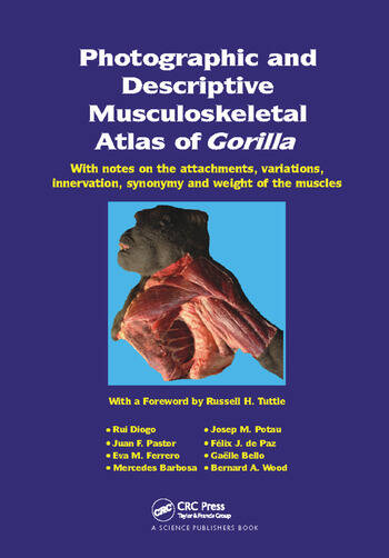Photographic and Descriptive Musculoskeletal Atlas of Gorilla With Notes on the Attachments, Variations, Innervation, Synonymy and Weight of the Muscles book cover