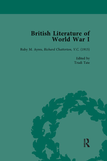 British Literature of World War I, Volume 2 book cover