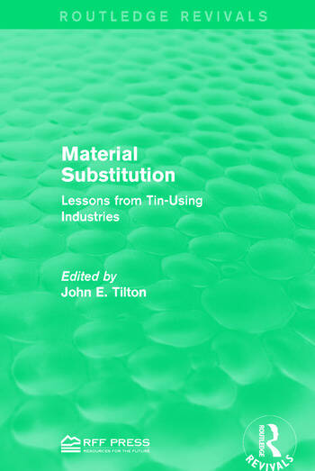 Material Substitution Lessons from Tin-Using Industries book cover