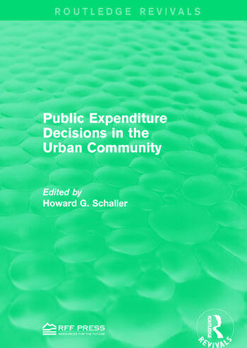 Public Expenditure Decisions in the Urban Community book cover