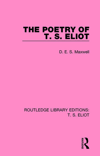 The Poetry of T. S. Eliot book cover