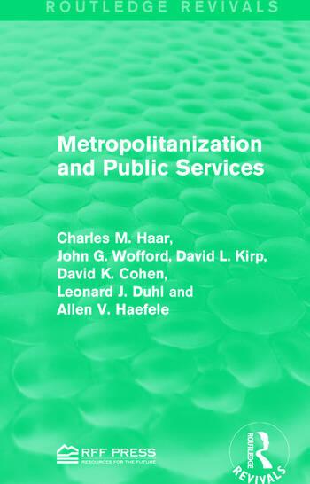 Metropolitanization and Public Services book cover
