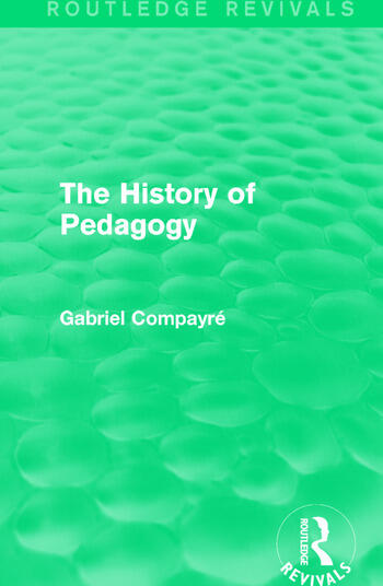 The History of Pedagogy book cover