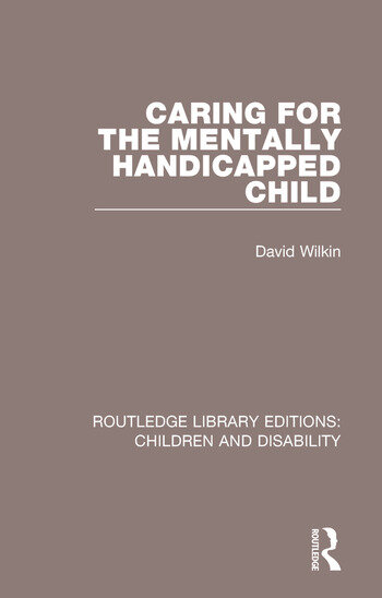 Caring for the Mentally Handicapped Child book cover