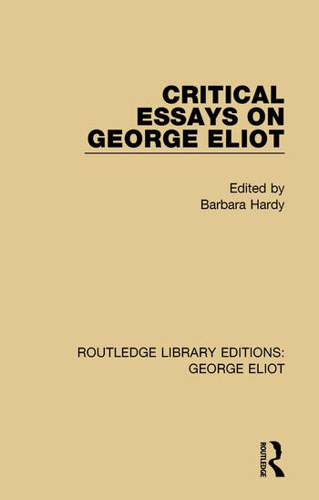 Critical Essays on George Eliot book cover
