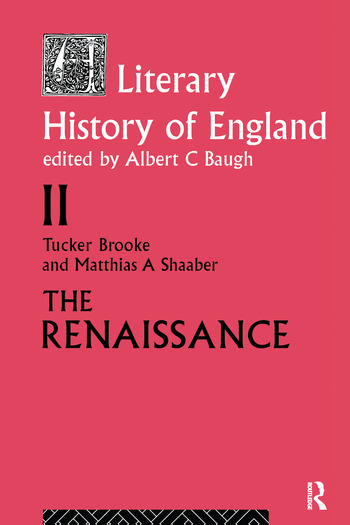A Literary History of England Vol 2: The Renaissance (1500-1600) book cover