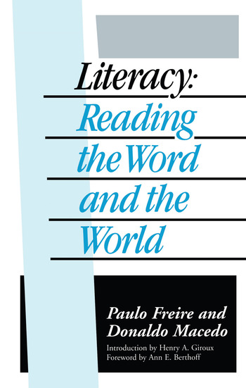 Literacy Reading the Word and the World book cover