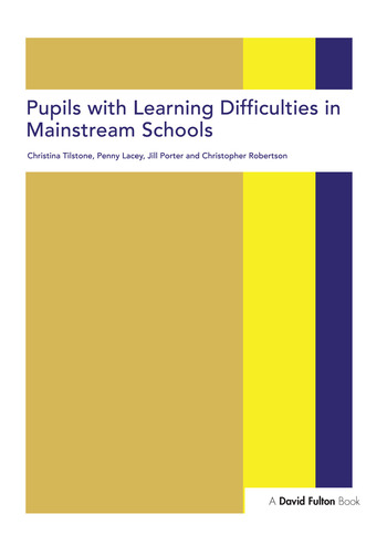 Pupils with Learning Difficulties in Mainstream Schools book cover