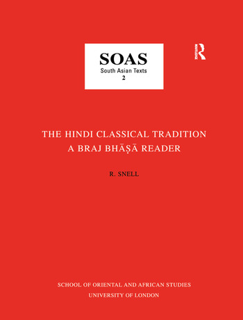 The Hindi Classical Tradition book cover
