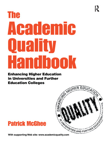 The Academic Quality Handbook Enhancing Higher Education in Universities and Further Education Colleges book cover