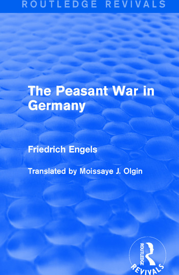 The Peasant War in Germany book cover