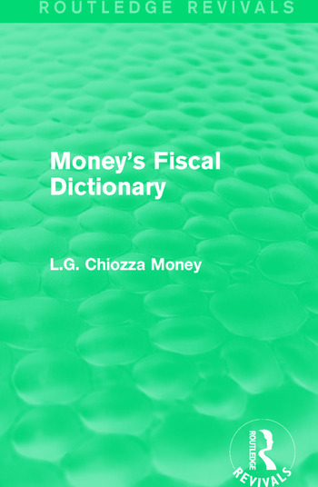 Money's Fiscal Dictionary book cover