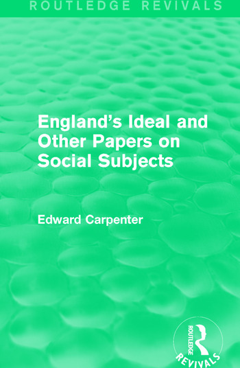 England's Ideal and Other Papers on Social Subjects book cover