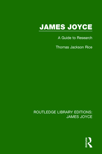 James Joyce A Guide to Research book cover
