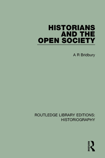 Historians and the Open Society book cover