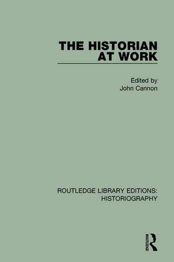 The Historian At Work book cover