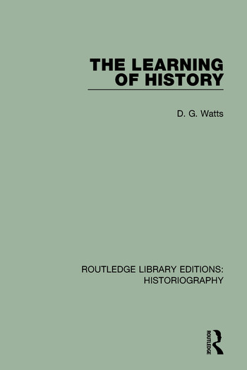 The Learning of History book cover